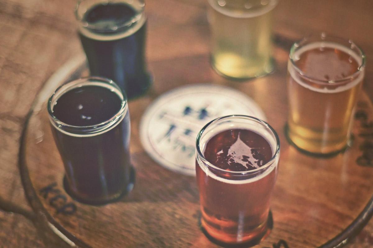 Castleburg Brewery - beer flight